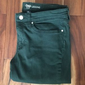 GAP dark green jeggings